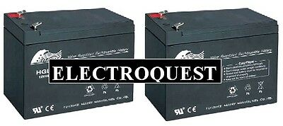 Two x 12V 9ah Heavier Duty Stairlift Batteries for Brookes, Stannah etc