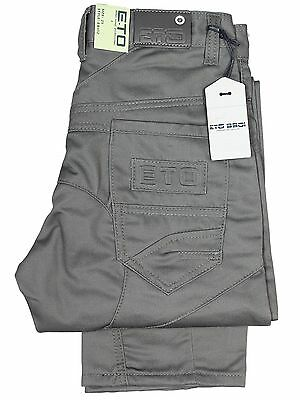 Boys Jeans ETO Kids Grey Straight Leg Trousers Designer Denim Pants 7 to 15 Year