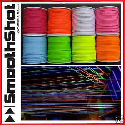 Glow In The Dark Uv Neon Rope String Threatre Performance Fluorescent Rope