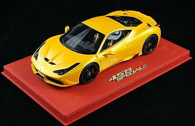 1/18 BBR FERRARI 458 SPECIALE YELLOW ON RED DELUXE LEATHER LE 10 PCS N MR