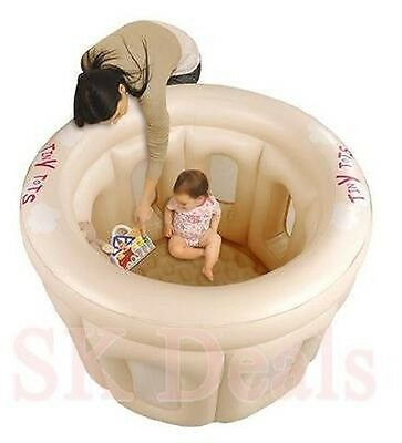 Inflatable Baby Toddler Childs Playpen Tiny Tots Fun Time Play Pen Comfort