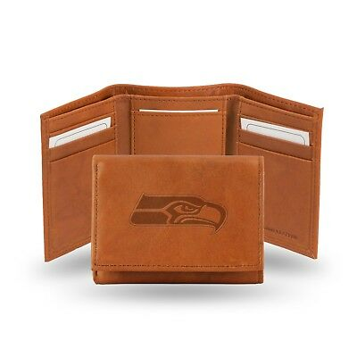 Seattle Seahawks NFL Embossed Leather Trifold Wallet ~ New