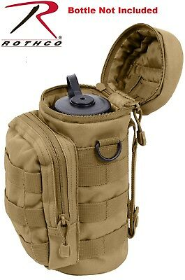 Coyote Brown Military MOLLE Tactical Travel Water Bottle Pouch Carry Bag 2779 #A