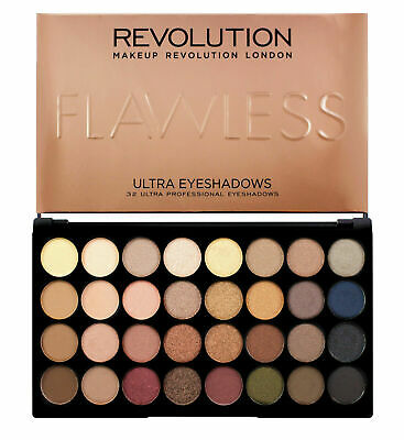 MAKEUP REVOLUTION 32 Shade 16g Eyeshadow Palette Nude and Natural Flawless