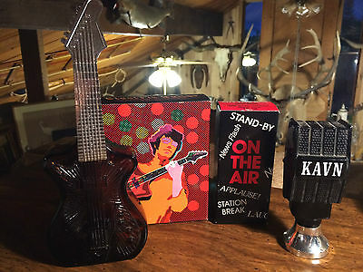 """Lot of 2 New Vintage Avon """"Music Themed"""" Decanters"""