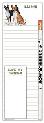 Basenji Dog Notepads To Do List Pad Pencil Gift Set