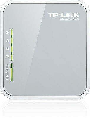 TP-LINK TL-MR3020 3G/4G PORTABLE Wireless N Router 300Mbps NBN Ready