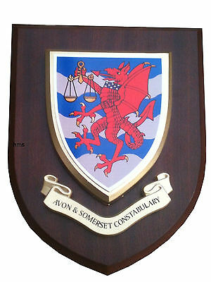Avon and Somerset Constabulary Police Wall Plaque