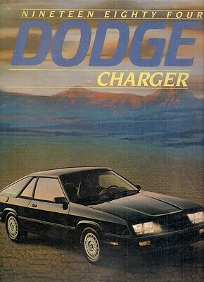 Dodge Charger 1984 USA Market Sales Brochure 1.6 2.2 Shelby