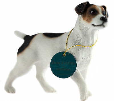 Medium Standing Jack Russell Terrier Dog Figurine Ornament