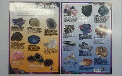 Rock and Mineral Collectors Information Sheet A5 Laminated Double Sided