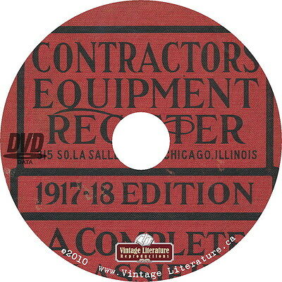 1917 Contractors Equipment {Vintage Industrial Machinery} Register on DVD