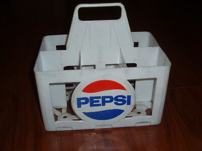 1970s Pepsi Cola Plastic Six Pack Carrier Large Bottle French Canadian RARE