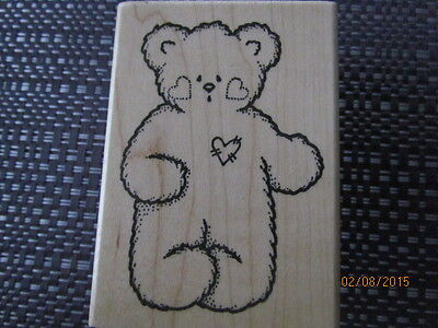 """Bear with heart cheeks and sewn heart chest by """"Darcie's"""" L2718"""
