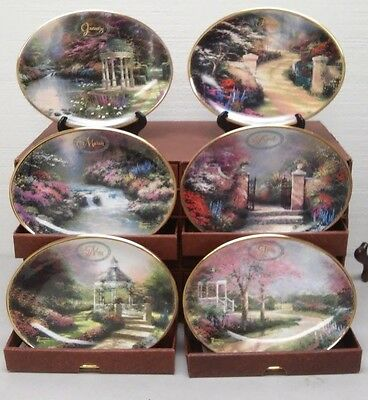 Thomas Kinkade Daily Gifts From God's Garden Plate Collection Calender 2001 Box