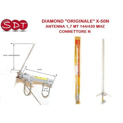 "Diamond ""originale"" X-50N Antenna 1,7 Mt 144/430 Mhz - Connettore N"