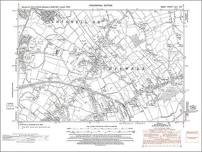 Old map Chigwell, Loughton (S), Buckhurst Hill (E), Essex 1940 (69SE)