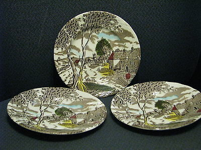 W H Grindley Sunday Morning Set of 3 Salad Plates