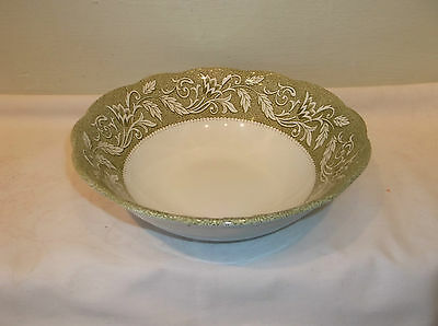 """A Very Nice J&G Meakin Staffordshire Renaisance Green 8 1/2"""" Round Serving Bowl"""