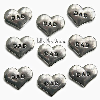 'Dad' Floating Charm for Living Memory Locket Pendant Necklace Family Charms