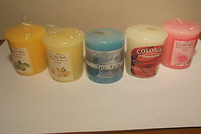 1 Scented Colony Oil FREE a.a Conniseurs Vintage Gold Square Designer Candles
