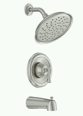 MOEN Ashville Tub and Shower Faucet Spot Resist Brushed Nickel w/ Rough In Valve