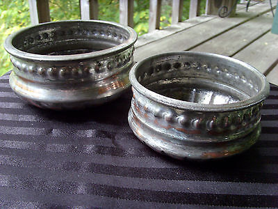 TURKISH/OTTOMAN/ANATOLIAN SET OF TWO (2) TINNED COPPER BOWLS, TOP CRAFTSMANSHIP