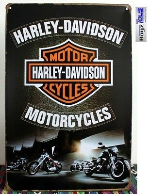 HARLEY Vintage Tin Bar Sign,Motorcycle Sign, Great for the man cave or bar,