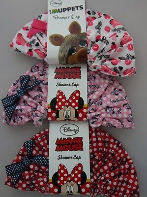Disney Bath Shower Cap, Minnie Mouse, Miss Piggy, Muppets, Mermaids, Gift Idea