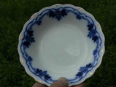 "IMPERIAL ENGLAND FLOW BLUE BERRY BOWL GRINDLEY 6 1/4"" WIDE"