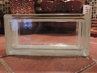 "Glass Block By Weck. NEW! 4 x 8 x 3-1/8"" CLEAR SEE THROUGH 1 block MADE GERMANY"