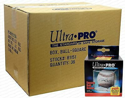 36 Ultra Pro Square BASEBALL DISPLAY Holder w/Stand New Lot Case Cubes