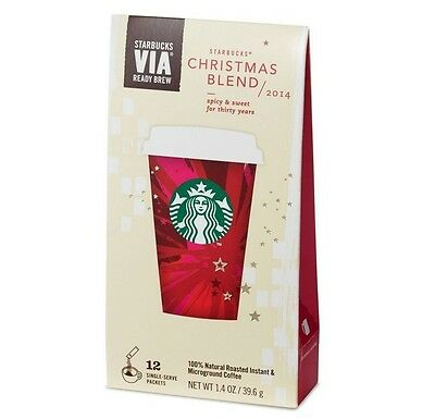 Starbucks Coffee VIA Ready Brew Christmas Blend Instant Coffee 12 Packets 12-Ct