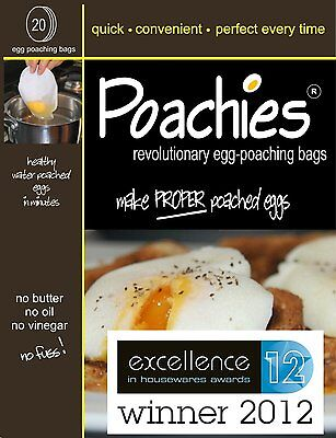 4 X 20 Poachies Egg Poaching Bags Perfect Poached Eggs Every Time