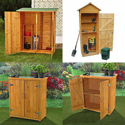 holz ger tehaus ger teschuppen gartenschrank ger teschrank gartenhaus doppelt r. Black Bedroom Furniture Sets. Home Design Ideas