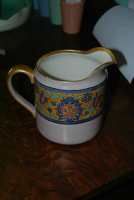 "RARE Vintage c1920s BELLEEK Lenox HAND PAINTED PITCHER ~7"" tall """
