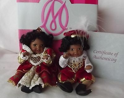 Marie Osmond King & Queen of Hearts Petite Amour Doll set Full Porcelain RARE!!!