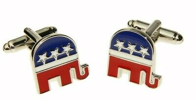 Men's Republican Political Cufflinks and Gift Box