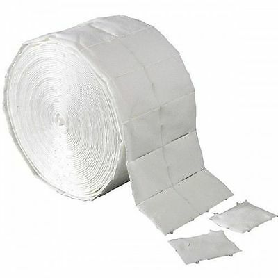 ROLL 1000 LINT FREE NAIL WIPES **NO FIBRES** polish remover wipes pads