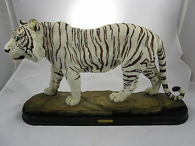 "Large White Bengal Tiger ""Giovanni Collection"" Statue Figurine 19"" L Polyresin"