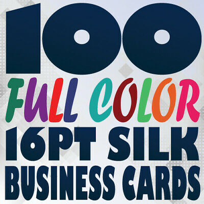 100 Full Color SILK BUSINESS CARD Printing on a 16pt Smooth Laminated Texture