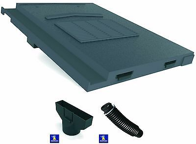 Marley Modern -  Mini Stonewold Roof Tile Vent , Adaptor & Flexipipe 4 Colours
