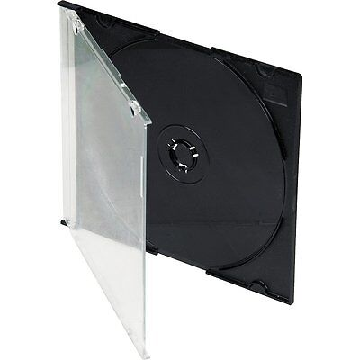 Cd Slimline Jewel Case 5.2Mm With Black Tray / Box Of 200 Cases