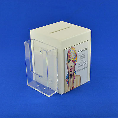Business Card Collection / Ballot / Suggestion Box with Holder PDS9470A6 White