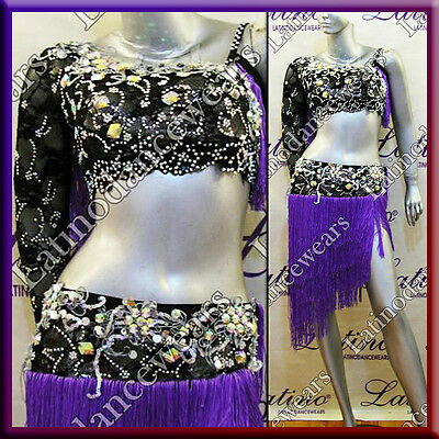 Latin Rhythm Salsa Ballroom Competition Dance Dress - Size S, M, L (Lt727)
