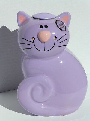 "Lavender Cat Coin Activated Sound Bank ""Meows"", New !"