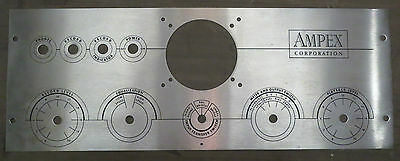 Ampex 351 Tube Mic Preamp Faceplate