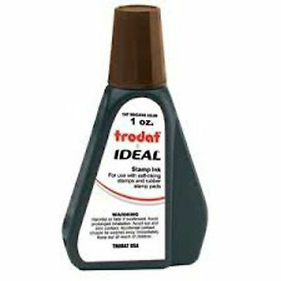 1 oz!!! BROWN Rubber Stamp Refill Ink (for self inking stamps & stamp pads)