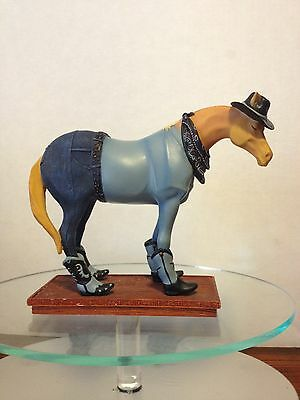 "RETIRED TRAIL OF PAINTED PONIES 1E/7836 BOOT SCOOTIN' HORSEY 2003 6"" TALL"