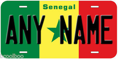 Senegal Flag Novelty Car License Plate